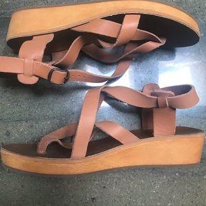 Lucky Brand Hadina leather sandals.
